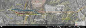 Proposed and Preferred Alignments for La Pata Gap Closure
