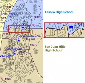 Attendance Boundaries for Ladera Ranch - High Schools