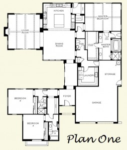 Floorplan for Plan One