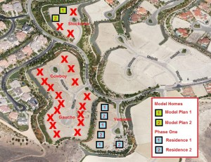 Locations and Elevations for the Legacy Collection Model and Phase One Homes