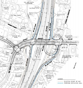 Schematic Drawing of Alternative 3 for the 5/Ortega Interchange