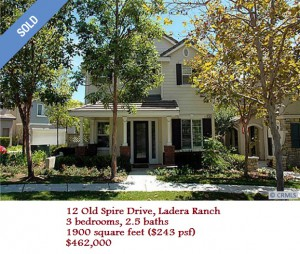 Ladera Ranch Comparable (image courtesy of Redfin)