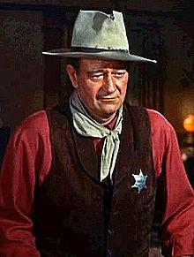 John Wayne in Rio Bravo (photo courtesy of Wikipedia)