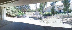 View from El Horno Street under the 5 Freeway