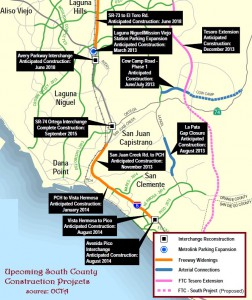 Future Transportation Projects in South Orange County (source: OCTA)