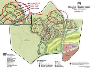 Location of Meritage Tract within Sendero (original image credit: Rancho Mission Viejo)