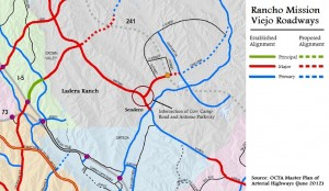 Proposed Planning Area 2 Roads (image source: OCTA Master Plan of Arterial Highways, June 2012)