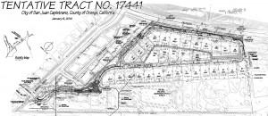 The Oaks: Tentative Tract Map (source: City of San Juan Capistrano)