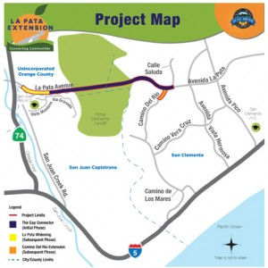 La Pata Gap Closure Project Map (source: OC Public Works)