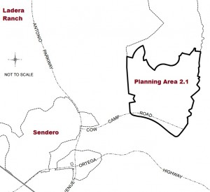 Area Map of Planning Area 2.1 (source: County of Orange)